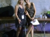 Liz Pennock with MARCIA BALL backstage at the 2015 Cincy Blues Fest- Cincinnati, OH (photo by Les Gruseck)