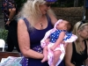 Liz meets her new two-week-old great niece KHORA BELLE DAVIS at the 2014 Cincy Blues Fest (Cincinnati, Ohio)