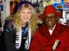 LIZ with PINETOP PERKINS backstage at Skipper's (WMNF show)