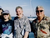 Doc & Liz with JOHN STREET (keyboardist for Anson Funderburgh) & TOMMY McCOY (Tampa Bay Blues Festival)