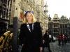 LIZ in front of Town Hall (Brussels, Belgium)