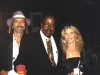 DOC & LIZ with blues harp great CAREY BELL, at the Greenup Festival (Greenup, Kentucky) 1994