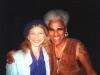 LIZ with GAYE ADEGBALOLA of SAFFIRE: THE UPPITY BLUES WOMEN