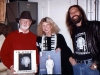 Exchanging albums with MOSE ALLISON backstage at the MOUNTAIN STAGE show (Charleston, West Virginia)- 1987