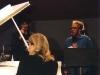 LIZ, DOC, & GAYE ADEGBALOLA in the studio (recording SIX FINGERS BOOGIE CD)