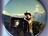 "Our friend & world traveler TIM ASHBAUGH planting the ""Liz Pennock"" flag on a mountain in the Himalayas- 1992"