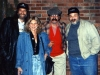 With ROY BOOK BINDER and ROCK BOTTOM after their show in Marietta, Ohio (1992)