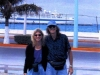 Liz & Doc in COZUMEL, MEXICO (The 2001 Blues Cruise- Regal Empress in the background).